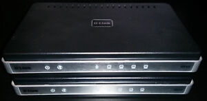 Two D-LINK DIR-615 Routers - 2.4 Ghz 802.11n 300 Mbps