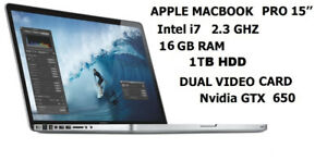 MacBook Pro 15 ,from 449$ to 1099$, Office ,Logic Pro, Final Cut