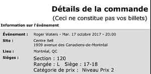 Roger Waters Montreal 2017 November 17