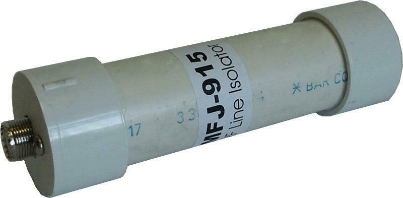 MFJ-915 RF Coax Isolator, 1.5 KW PEP, 1.8-30 MHz Ham CB Radio Antennas