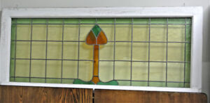 Vintage/Antique  Stained Glass Transom Window