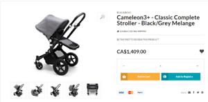 Bugaboo cameleon3+ stroller and infant car seat for sale