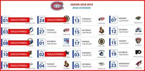 Habs Season Tickets Reds/Rouges Great Price! Bon prix!