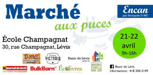Bazar de Lévis le 21-22 avril 2018