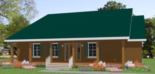 Custom House Home Building Plans 3 bed Split Ranch 2000sf--- PDF file