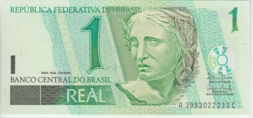 Brazil Banknote P251a 1 Real 2003, Series AC, UNC