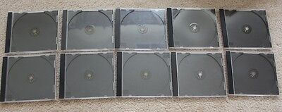 Lot Of 10 Blank Or Transparent Cases Holder Jewel Case Cover For Cd Dvd