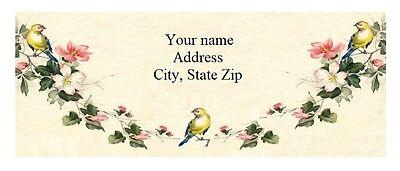 Personalized Address Labels Beautiful Birds Buy 3 Get 1 Free Yn 11