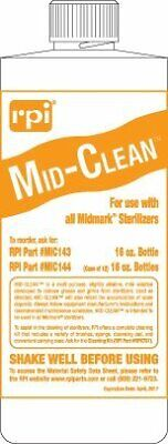 Mid-clean Sterilizer Cleaner Solution For Midmark And Ritter Mic143 16oz Bottle