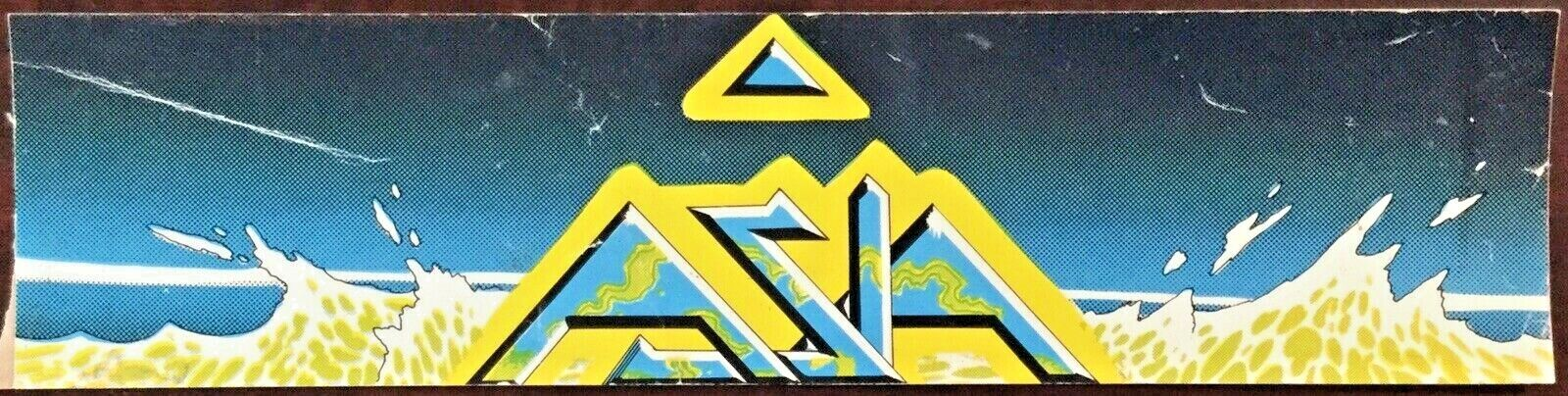 Vintage 1983 ASIA 12 Inch Unused Bumper Sticker