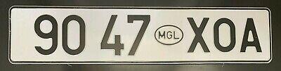 Mongolia Khovd Province RARE Auto License Plate 9047 ХОА Original Pre-Owned