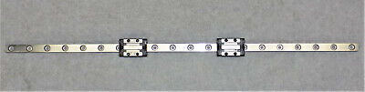 Rexroth Star 0442-894-01 Linear Bearing Slide Stage Block Rail Assembly 395mm