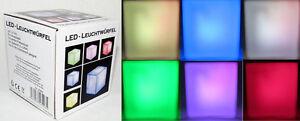 LED Leuchtwürfel Cube Lampe mit RGB Farbwechsel Würfel  ca 7 x 7 cm