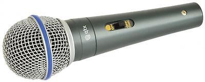 New QTX 173.461 DM15 Dynamic Mircophone And 4.0 Metre IFop9