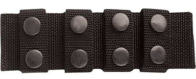 Tru-Spec 4109000 Black Ballistic Nylon Professional Duty Belt Keepers Pack of 4
