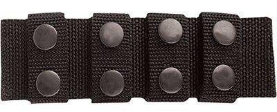 Tru-Spec 4109000 Black Ballistic Nylon Professional Duty Belt Keepers Pack of 4