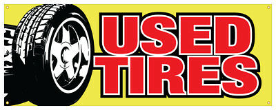 12 Used Tires Sticker Tire Store Outdoor Decal Sign
