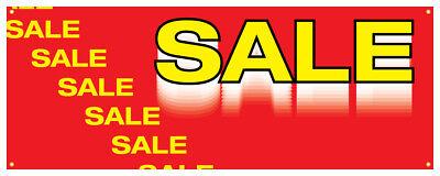 Sale Gonfalon Retail Clearance Promotional Storefront Store Sign 36x96