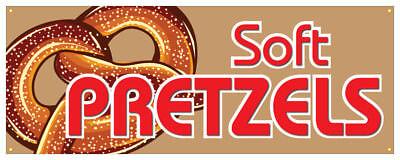 Soft Pretzel Banner Salted Baked Concession Stand 18x48 ()