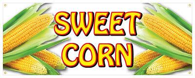 Sweet Corn Banner Market Fresh Farmer Market Concession Stand Sign 48x120