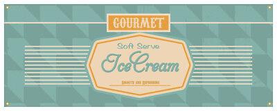 Soft Serve Ice Cream 03 Banner Ice Cream Cold Concession Stand Sign 36x96