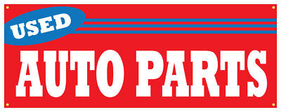 24 Used Auto Parts Sticker Mechanic Store Outdoor Decal Sign