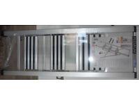 3-Step Aluminium Folding Step Ladder Silver Brand New Wenko 601012100