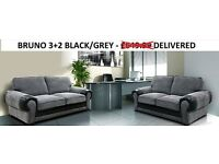 MASSIVE REDUCTION ON THIS BRUNO 3+2 SOFA MANY OTHER SOFAS FROM £230 GO THRU THE PICS TO CHOOSE