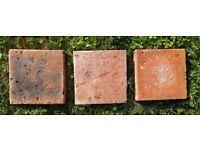 720 (~24 m2) 6 1/2'' x 6 1/2'' Reclaimed Victorian Suffolk red pammet pammets pamments floor tiles