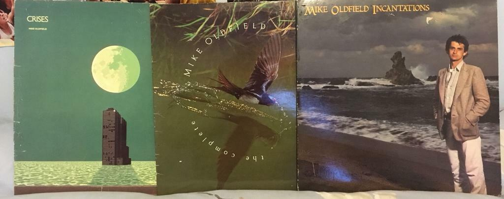 Mike Oldfield 3 LPs. Incantations, Crises & The Complete...