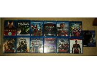 Marvel Complete 13 Film Bluray Collection inc 3D Iron Man, Capt America, Hulk, Thor, Avengers, etc
