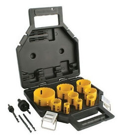 Dewalt Hole saw set 13 piece, ** cost £ 105 new ** plumbers or electrician set, Festool