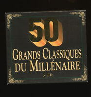 50 grands classiques du millénaire coffret 3 cd.
