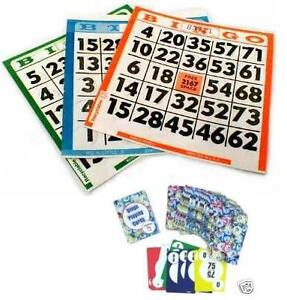 Bingo Combo Set Travel Playing Cards Bingo Calling + 250 Bingo Cards Push out