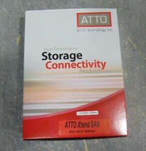 NEW ATTO ISCI INITIATOR PC SOFTWARE 251613591 APPLE MAC OS ONLY! COMPUTER CDS SOFTWARE 5 LICENSE FACTORY SEALED