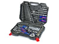 123PC Tool Set Hand Tools for Car Repair Ratchet Spanner Wrench Set Socket Set Mechanic Tools. Free
