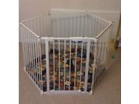 lindam hexagon playpen with padded mat