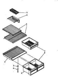 Kenmore refrigerator parts model 106