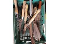 box of old garden shears