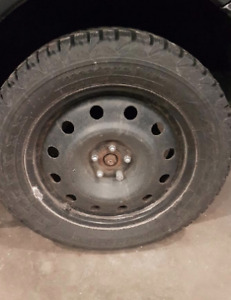Set of 4 Winter Tires 225/55 17 inches Firestone Winter Force