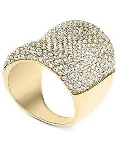 michael kors ring with swarovski crystals