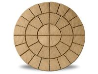 Cathedral Circle Barley 1.8m Patio Paving Feature Kit £119.99 Garden Slabs / Flags 0161 962 9127
