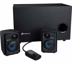 Corsair Gaming Audio Series SP2500 Speaker System - for PC - 2.1 - 232W RMS