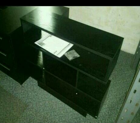 A brand new black cube style unit.