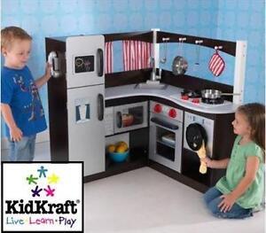 NEW KIDKRAFT CORNER KITCHEN GRAND ESPRESSO CORNER KITCHEN - PLAYSET 104541047