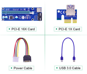 Brand New Pci-e 1x to Pci-e 16x Risers in Factory Package