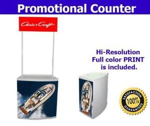 Counter Portable Trade Show Booth Kiosk Reception Sampling Table FREE GRAPHICS - BRAND NEW - FREE SHIPPING