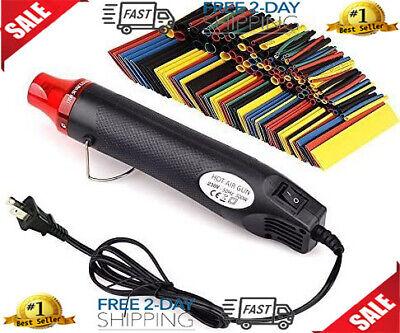 Heat Shrink Set Shrink Tubing Heat Gun 328pcs Heat Shrink Tubewire Wrap Tubing