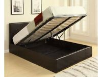 BRAND NEW BED - 4ft6 Double Storage Ottoman Gas Lift Up Bed Frame - (We can deliver Today)
