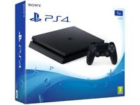 PlayStation 4 (PS4) • 1TB• Brand New Sealed • Black
